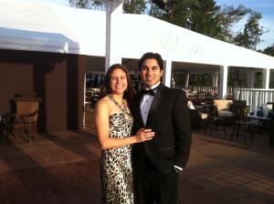 me and p at matt wedding