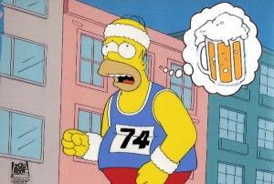 homer beer running