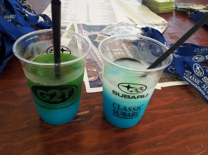 Some pretty, but very sugary, drinks they had at the Expo today!  I didn't go there though...