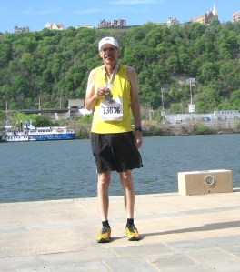 From the Goat:  Uncle Joe looking great and rockin' his medal after a stellar half!!!