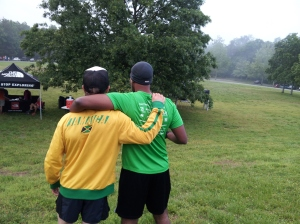 Jamaican Sensation found a fan of his homeland at the race.