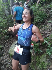 One of my fellow runners was nice enough to take my picture :)  Thumbs up in full effect!