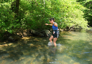 Me splashing like a wuss!