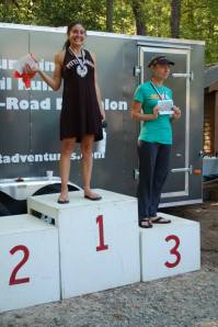 Second place is missing because she is off running more laps ;)