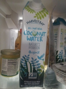 Let's start with the coconut water!