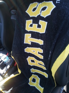 I have a post-run tradition of covering my seats with a Pirates or Steelers towel to keep my sweat from infesting my seats…This is the first October I didn't get any crap for my Pirates towel.  Go Bucs!