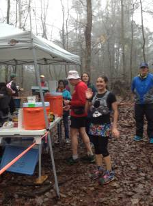 Aid station still smiling ;)